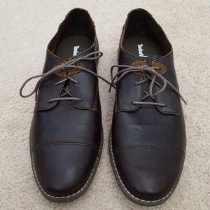 Timberland Revenia cap toe brown leather oxfords
